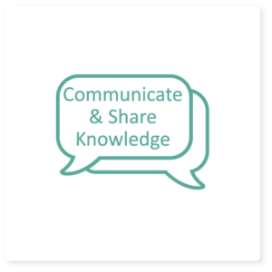 communicate & share knowledge